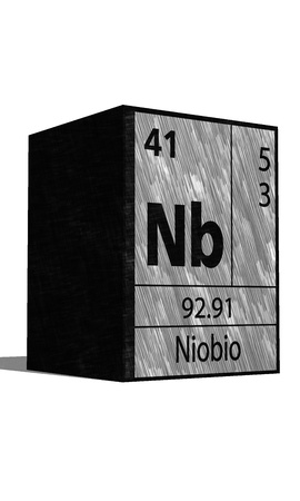 nb: Nb Chemical element of the periodic table with symbol