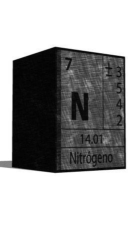 neutrons: N Chemical element of the periodic table with symbol Illustration