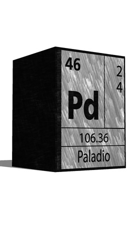 protons: Pd Chemical element of the periodic table with symbol