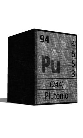 Pu Chemical element of the periodic table with symbol