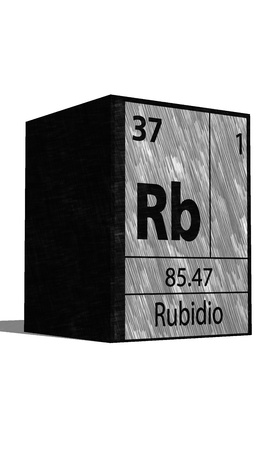 substances: Rb Chemical element of the periodic table with symbol
