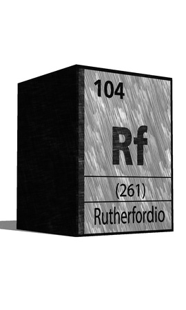 isotopes: Rf chemical element of the periodic table with symbol Illustration