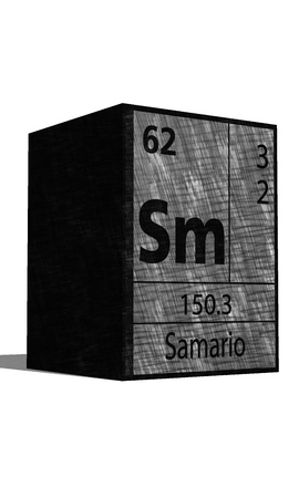 Sm chemical element of the periodic table with symbol Ilustrace