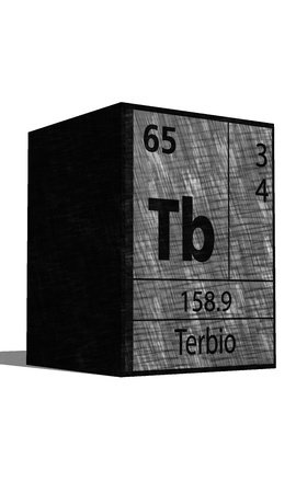tb: Tb chemical element of the periodic table with symbol Illustration