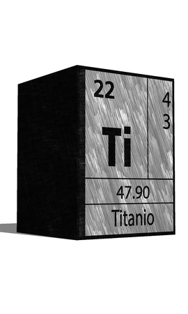substances: Ti chemical element of the periodic table with symbol
