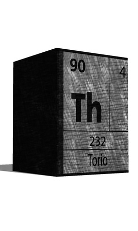 neutrons: Th chemical element of the periodic table with symbol Illustration