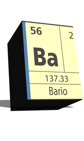 substances: Ba symbol chemical element of the periodic table