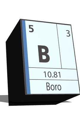 substances: B symbol chemical element of the periodic table