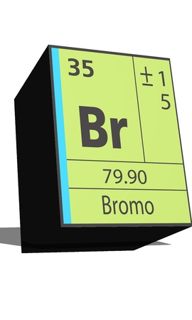 br: Br symbol chemical element of the periodic table Illustration