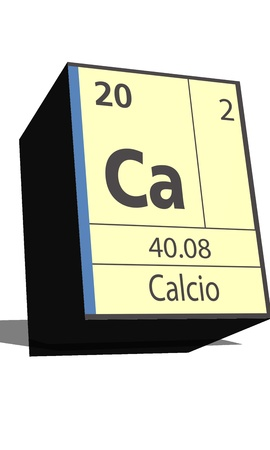 protons: Ca symbol chemical element of the periodic table Illustration