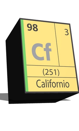 neutrons: Cf symbol chemical element of the periodic table Illustration