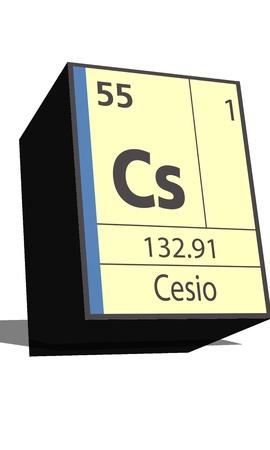 cs: Cs symbol chemical element of the periodic table