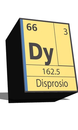 dissolved: Dy symbol chemical element of the periodic table