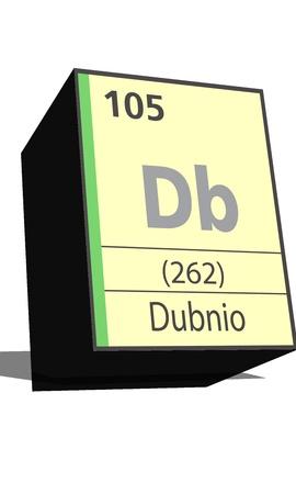 db: Db symbol chemical element of the periodic table