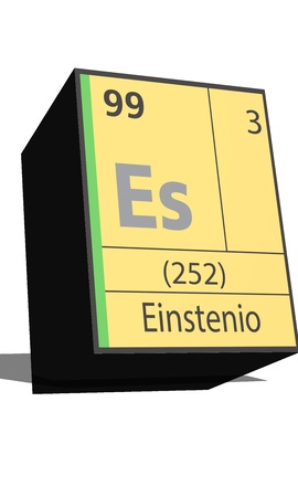 isotopes: Es symbol chemical element of the periodic table Illustration
