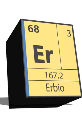 er: Er symbol chemical element of the periodic table