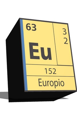 neutrons: Eu symbol chemical element of the periodic table