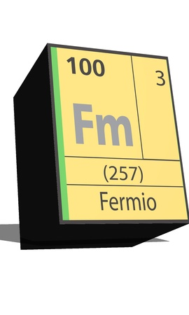substances: Fm symbol chemical element of the periodic table Illustration