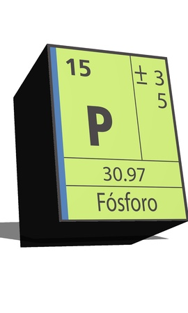 isotopes: P symbol chemical element of the periodic table Illustration