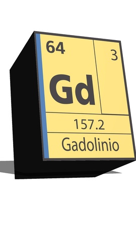 protons: Gd symbol chemical element of the periodic table
