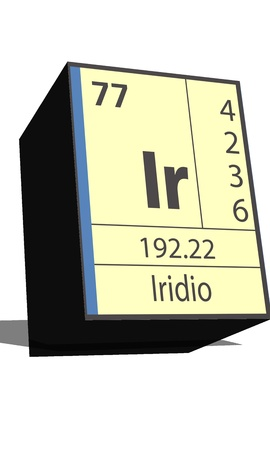 isotopes: Ir symbol chemical element of the periodic table Illustration