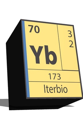 neutrons: Yb symbol chemical element of the periodic table