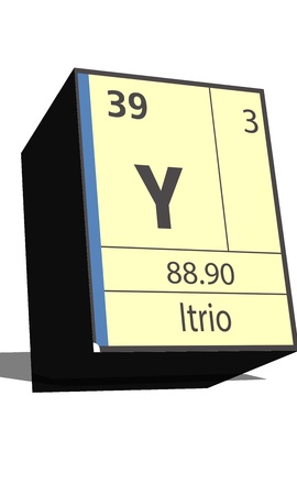 substances: Y symbol chemical element of the periodic table Illustration