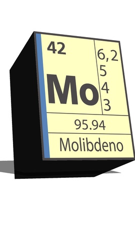 neutrons: Mo symbol chemical element of the periodic table