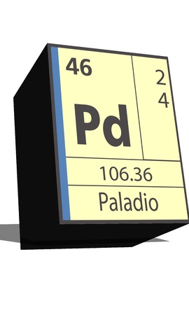 substances: Pd symbol chemical element of the periodic table Illustration