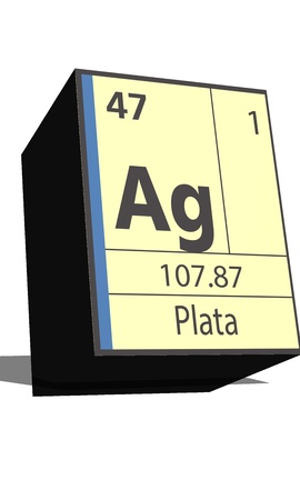 Ag symbol chemical element of the periodic table