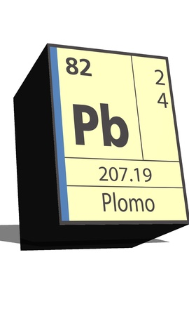 isotopes: Pb symbol chemical element of the periodic table Illustration