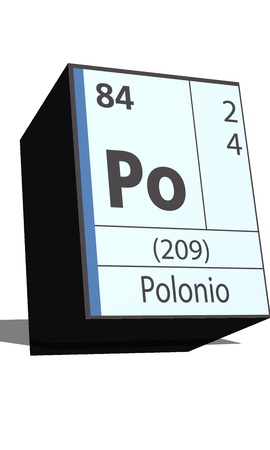 po: Po symbol chemical element of the periodic table Illustration