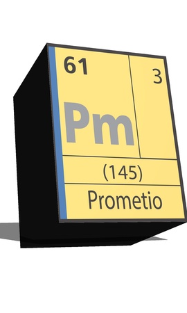 pm: Pm symbol chemical element of the periodic table