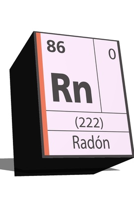 neutrons: Rn symbol chemical element of the periodic table