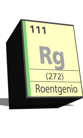 Rg symbol chemical element of the periodic table