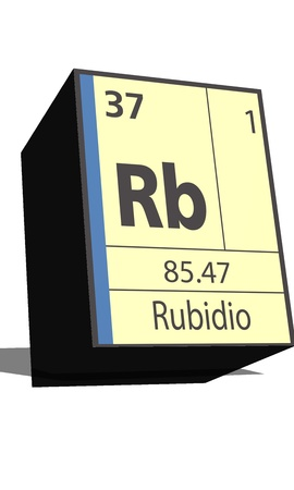 dissolved: Rb symbol chemical element of the periodic table