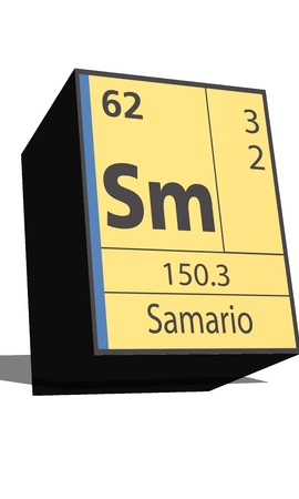 protons: Sm symbol chemical element of the periodic table