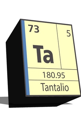 neutrons: Ta symbol chemical element of the periodic table Illustration