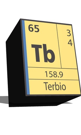 tb: Tb symbol chemical element of the periodic table Illustration