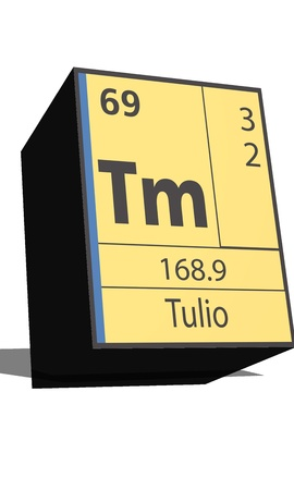 dissolved: Tm symbol chemical element of the periodic table
