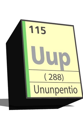dissolved: Uup symbol chemical element of the periodic table Illustration