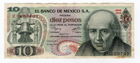 Old Mexican bill, 1977 edition.