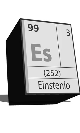 isotopes: Chemical element of the periodic table  Symbol Es Illustration