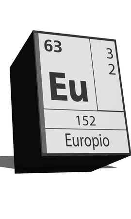 neutrons: Chemical element of the periodic table  Symbol Eu Illustration