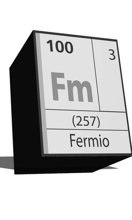 substances: Chemical element of the periodic table  Symbol Fm Illustration