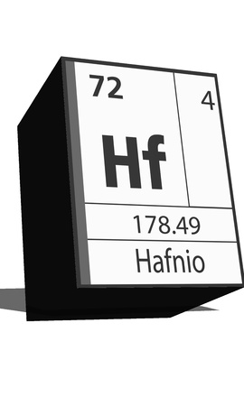 neutrons: Chemical element of the periodic table  Symbol Hf Illustration