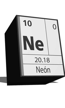 ne: Chemical element of the periodic table  Symbol Ne