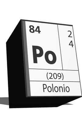 po: Chemical element of the periodic table  Symbol Po Illustration