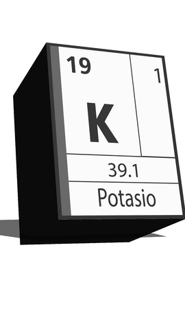 isotopes: Chemical element of the periodic table  Symbol K Illustration