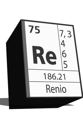 re: Chemical element of the periodic table  Symbol Re Illustration